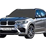 MITALOO Windshield Snow Magnetic Frost Ice Cover Sunshade Snow Covers Frost Shield with Magnet Edges Fits Most Car, SUV, Truck, Van or Automobile