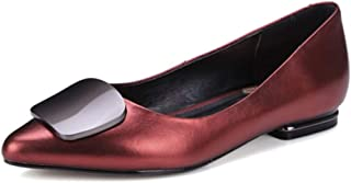 Nine Seven Women's Leather Pointtoe Flatheel Flat