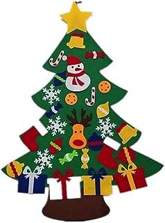 aipipl Arbre de Noël Décorations en Feutre Arbre de Noël en Feutre pour Enfants Arbre de Noël Bricolage avec Ornements pou...