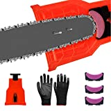 Chainsaw Sharpener, Universal Chain Saw Blade Sharpener Fit for 2-Hole 14/16/18/20 Inch Chainsaw
