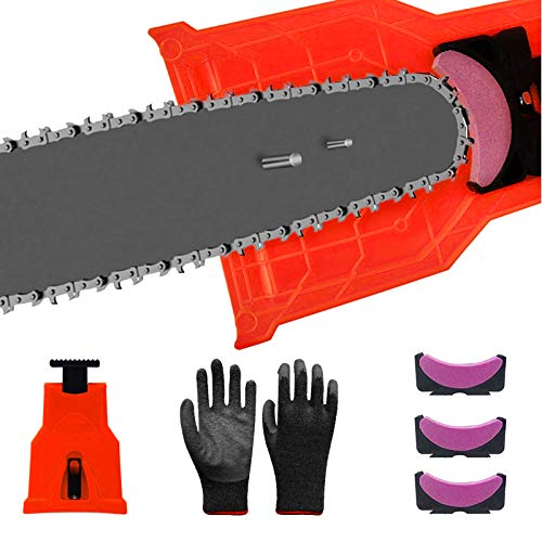 Chainsaw Sharpener, Universal Chain Saw Blade Sharpener Fit...