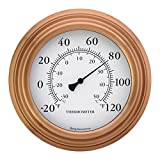 Bjerg Instruments 8' Copper Finish Decorative Indoor/Outdoor Patio Wall Thermometer