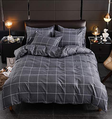 MGORJGR Nordic stripe king size duvet cover set 220x240 Pillowcase 3pcs,quilt cover set 200x200,beding sheet set,Double bed cover