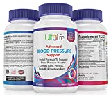 Top High Blood Pressure Support Supplement by UltaLife - Natural Hypertension Pills with Garlic, Hawthorn, Hibiscus & Forskolin. Vitamins & Herbs to Lower BP - Stress, Heart & Circulatory Health Pill
