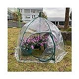 Gzhenh Invernadero Cobertizo De Aislamiento Trmico Paraguas Jardinera Impermeable Prevencin De Aves Plegable Invernaderos Jardin PVC (Color : Clear-1pcs, Size : 105x78cm)