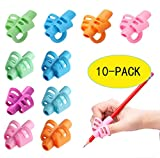 Pencil Grips - 10 Pack HUOLIKING Pencil Grips for Kids Handwriting,Silicone Pencil Holder,Posture Correction Tool for Kids Preschoolers Children, Hollow Ventilation Design