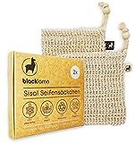[Reduziert] Designed in HAMBURG [2x] Sisal Seifensäckchen mit Baumwoll-Labels - 100% vegan -...