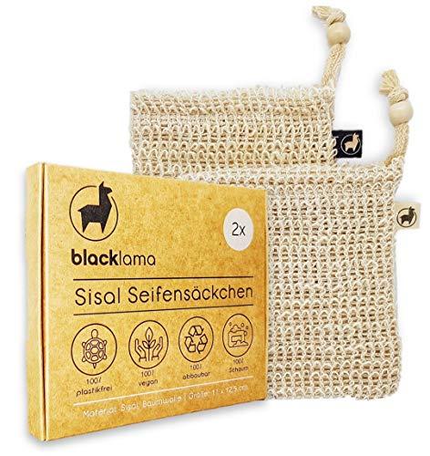 [Reduziert] Designed in HAMBURG [2x] Sisal Seifensäckchen mit Baumwoll-Labels - 100% vegan - Zero-Plastic - Bio Peeling - Seifenbeutel - Seifensack für Seifenreste - reines Naturprodukt