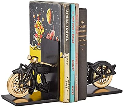 Pendulux, Motorcycle Bookends, Book Organizer, Silver