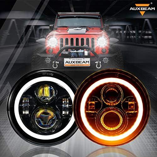 Auxbeam 7 Inch LED Headlights for Jeep Wrangler JK TJ LJ CJ Hi Lo Beam 7 Headlamps for Rubicon product image