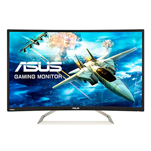 ASUS VA326HR Monitor, 80,01 cm (31,5 inch), VGA, HDMI, Full HD, GamePlus-technologie, 144Hz, 1.800R kromming, zwart
