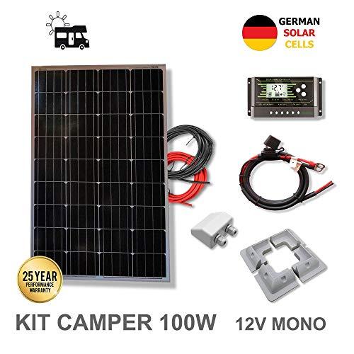 VIASOLAR Kit 100W Camper 12V Panel Solar...