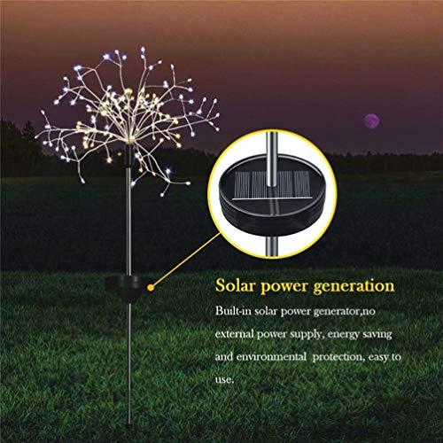 Uonlytech Solar Powered Dandelion Garden Lights Waterproof 153 LEDs Solar Firework Decorative Lights for Yard Pathway Outdoor