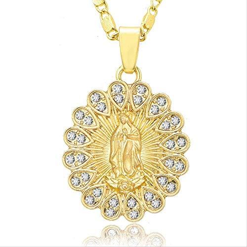Liuqingzhou Co.,ltd Colgante Collar Religio Delicate Golde Christia Cubic Zirco Collar Christia Jewelry