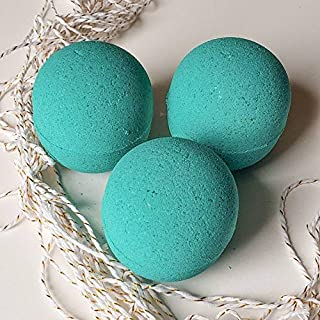 CBD Health Labs Lavender & Mandarin Pure Essential 10mg FS Hemp Oil 6 oz Set of 3 Bath Bombs, Teal