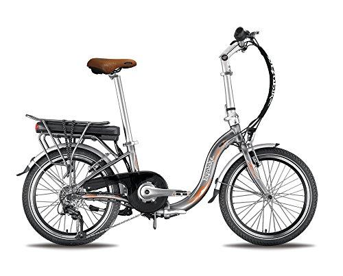 BIZOBIKE Bicicletta elettrica Pieghevole miesty Bello Grigio–Batteria: Li-Ion Panasonic 36V, 14,5Ah–autonomia: 140km–Peso: 20,3kg su Amazon