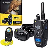 Bundle of 2 Items: Dogtra 280C Remote Training Collar and PetsTEK clicker. Perfect for dogs from 10 pounds and up. Ultra compact, waterproof behavior training collar is designed to fit dogs with neck sizes between 6 - 24 inches. The remote trainer ha...