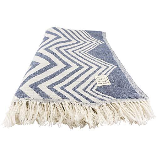 Vera Luxury Turkish Beach Towel (XL) - Prewashed 100% Cotton Thin Highly Absorbent, Quick Dry, Ultra Soft, Light Weight Peshtemal