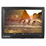 Andoer 7Inch 160° Camera Video Monitor Full HD 1920x1200 IPS Screen Field Monitor with Sunshade HDMI Input Support 4K Signal for Canon Nikon Sony A7S/ A7S II/ A7R/ A7R II DSLR Camera Camcorder