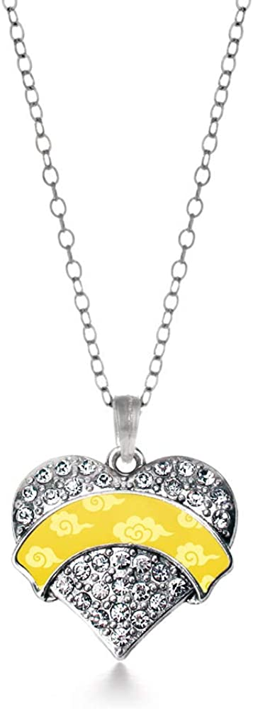 Inspired Silver - Pave price Heart Necklace with Now free shipping Inch 18 Charm