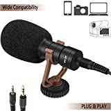 Professional Grade Video Camera Microphone with Shock Mount(Made of High-Grade raw Materials),Perfect for iPhone/Recording YouTube/Camera/Interview/Video Conference/Podcast/Voice Dictation/ASMR