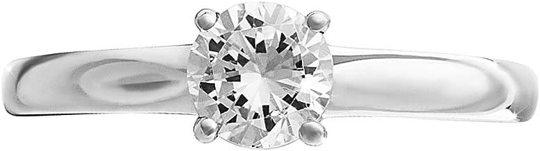 Premium Qualität Hälfte Karat Weiß Gold Diamant Solitaire