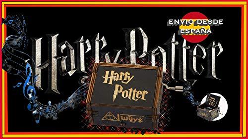 shuangfanbaihuo Inicio Caja de música clásica de Harry Potter Caja de música Creativa de Madera con manivela Negra