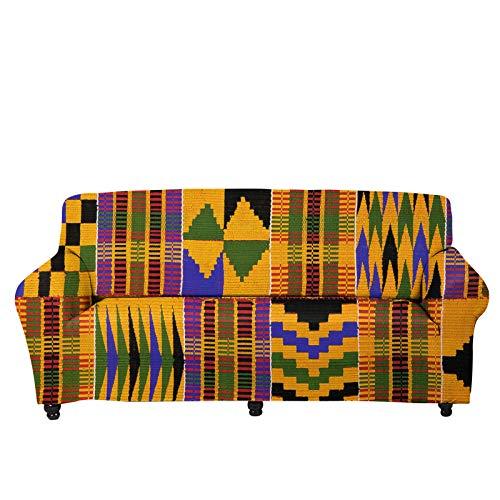 UOIMAG Fundas de sofá de patrón tribal elástico para sofá sofá sofá suave sillón Loveseat Protector cubre 1 plaza