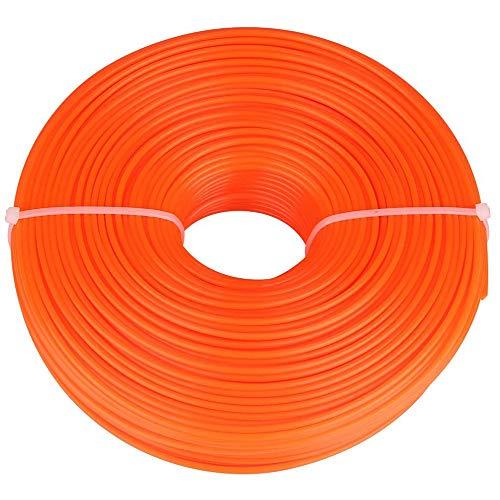 Trimmerfaden Trimmerschnur Nylon Gatren Rasenmäher Motorsense Zubehör Ersatzfaden Runde String,Orange