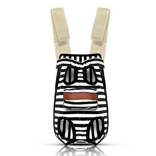 COODIA Legs Out Front Pet Dog Carrier Front Chest Backpack Pet Cat Puppy Tote Holder Bag Sling Outdoor (L, Color Black)