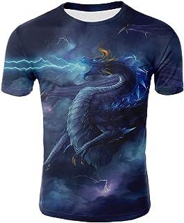 JYK-LQM Novelty 3D t-Shirts Print Graphic Short Sleeve Summer Fashion T Shirts