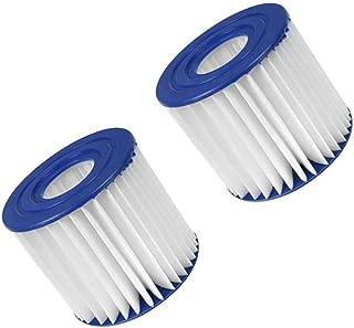 Summer Waves P57100102 Swimming Pool Pump Filter Cartridge, Type D Pack of 2