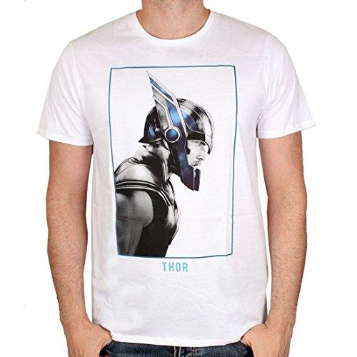 Marvel Comics Ragnarok Premium Thor Profil - Camiseta para hombre (tallas S-XL), color blanco Blanco L