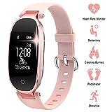 WOWGO Montre Connectée Bracelet Connecter Femme Fitness Tracker Connecté Podometre Smartwatch compatible avec les...