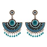 Bohemian Vintage Ethnic Resin Dangle Earrings for Women Fashion Jewelry Collection Earrings Accessories-D
