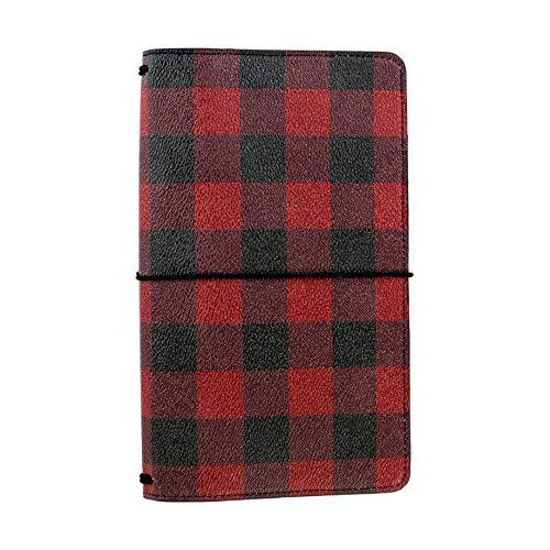 Echo Park Paper Company Buffalo Plaid travelers notebook, Red/Black