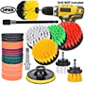 24 Pieces Power Scrubber Drill Brush Cleaning Attachments Set,Scrubber Brush with Extend Long Attachment,Brush&Scouring Pads&Scrub Sponge Kit For Tile Sealants, Sinks,Bathtub, Wheels, Floor,Carpe