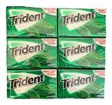 Trident Spearmint Gum   Trident Sugarfree Gum   Pack of 6   14 Sticks Per Pack