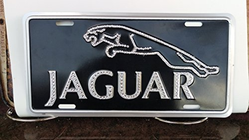 Swarovski Vintage Jaguar Cat License Plate -  judys jewelz