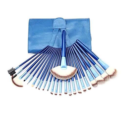 Brosse De Maquillage De 24 Pinceau De Maquillage Bleu Fixé Fondation De Fibres Super Doux Trois Couleurs Pinceau Blush Outils De Beauté