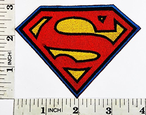 DC Comics superman TV Logo cartoon kid patch Symbol Jacket T-shirt Patch Sew Iron on Embroidered Sign Badge Costume