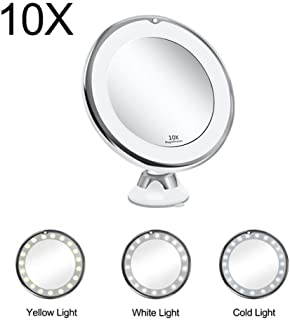 YXZQ Makeup Mirror, Makeup Vanity Mirror with Magnifying 10X Lights LED Lighted Makeup Cosmetic Mirror (Color : 10X)