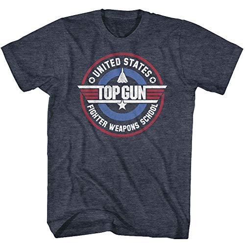 Top Gun - Männer Waffen Schule T-Shirt, X-Large, Navy Heather