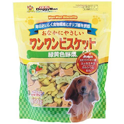 ドギーマン 犬用おやつ おなかにやさしいワンワンビスケット 野菜 450g