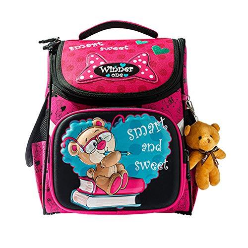 MountRise-Bags Sacs à Dos pour étudiants de Base Ultra-légers, protège Le Sac à bandoulière pour Enfant de Spine avec Une Bande de signalisation réfléchissante, Convient aux Enfants de 6 à 12 Ans,C