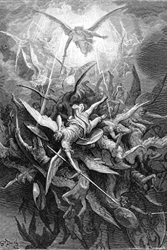 Fall of The Rebel Angels Engraving by Gustav Dore Cool Wall Decor Art Print Poster 24x36
