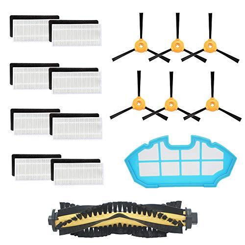 BBT BAMBOOST Piezas de repuesto para DEEBOT N79S DEBOT N79 DEBOT 500 accesorios de aspiradora robótica – 8 filtros + 6 cepillos laterales + 1 cepillo de rodillo + 1 filtro...