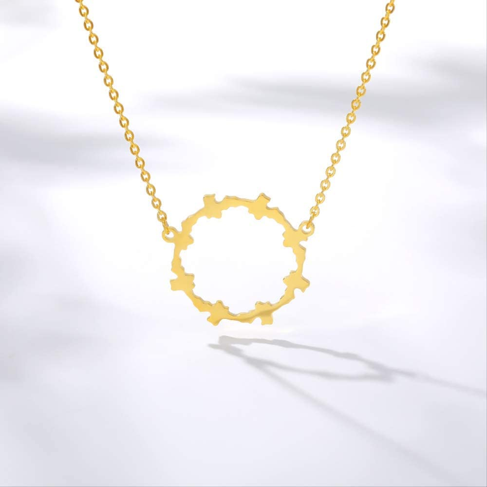 Stainless Steel Gears Necklace Women Men Gold Chain Necklaces Pendents BFF Collares Jewelry Accesorios Mujer Birthday Gifts