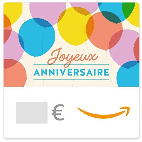 Chèque-cadeau Amazon.fr - E-mail - Ballons d'anniversaire