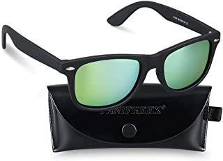 PANIFREEX 偏光レンズ 偏光サングラス メンズ 偏向サングラス 超軽量UV400 紫外線 反射光 強光眩しい光 グレアからカット超抗圧 スポーツサングラス/ 自転車/釣り/野球/テニス/スキー/ランニング/ゴルフ/ドライブ B0921